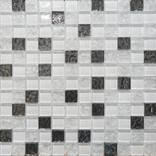 Декор Mosaic Glass White 30х30